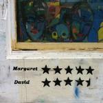 Street art: Margaret and David